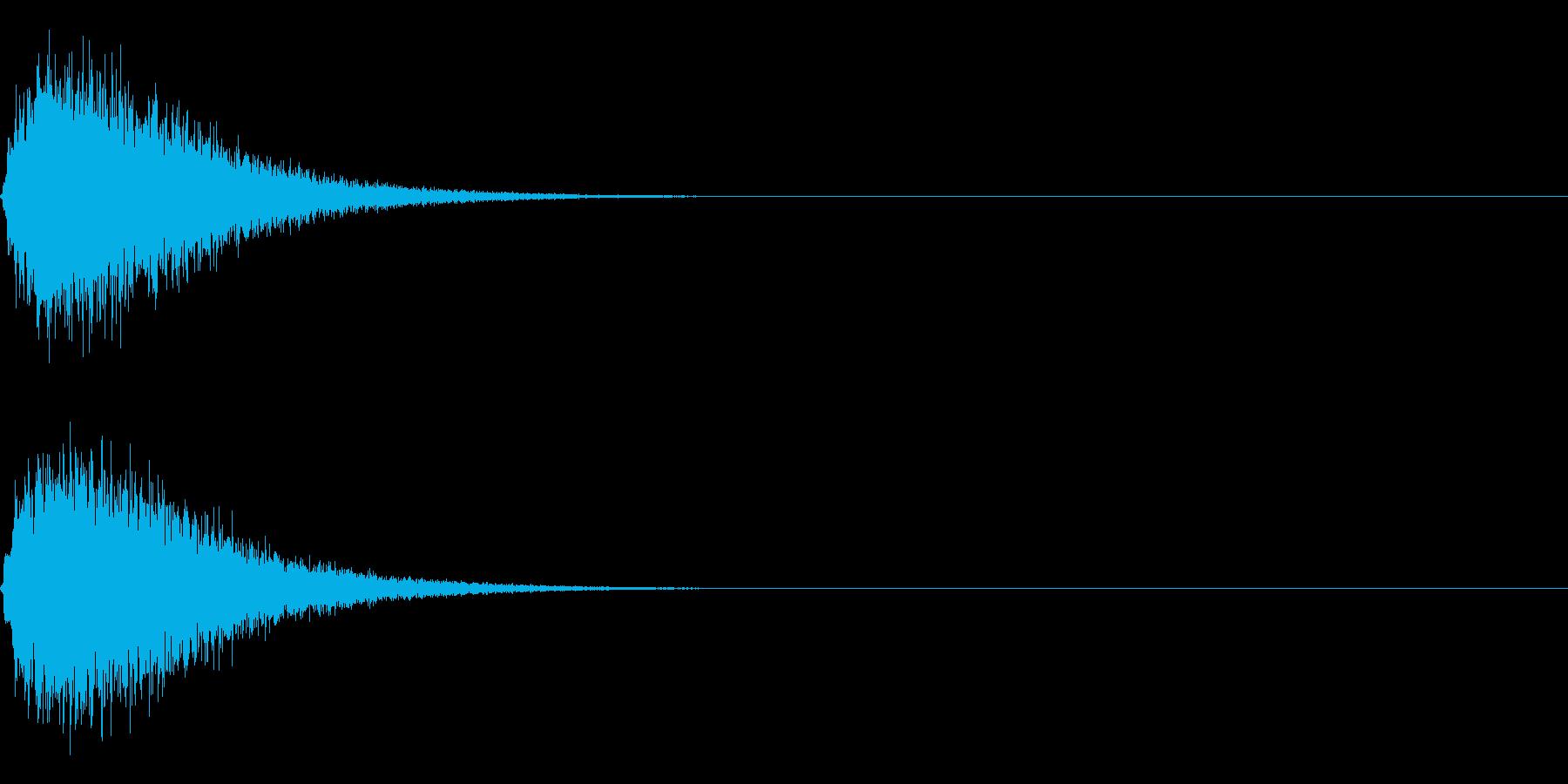 キュイン ボタン ピキーン キーン 8の再生済みの波形