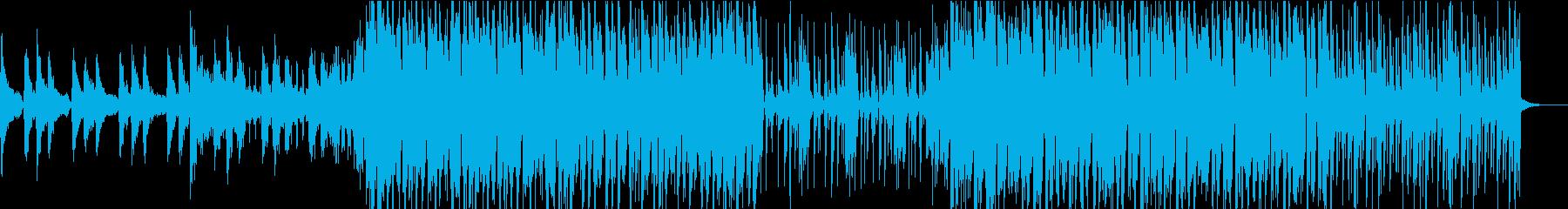 ディスコ風なベースとサックスのハウスの再生済みの波形