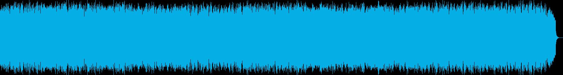 ほのぼのと暖かい風のような竹笛の音楽の再生済みの波形