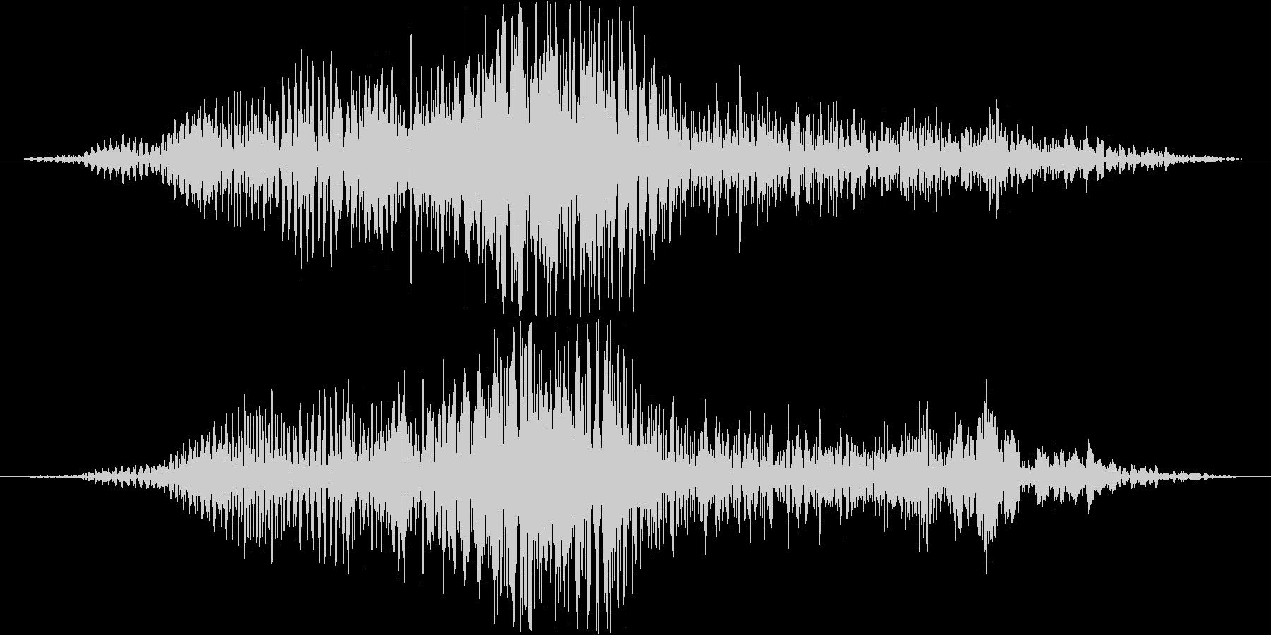 モンスターヴォイスの未再生の波形