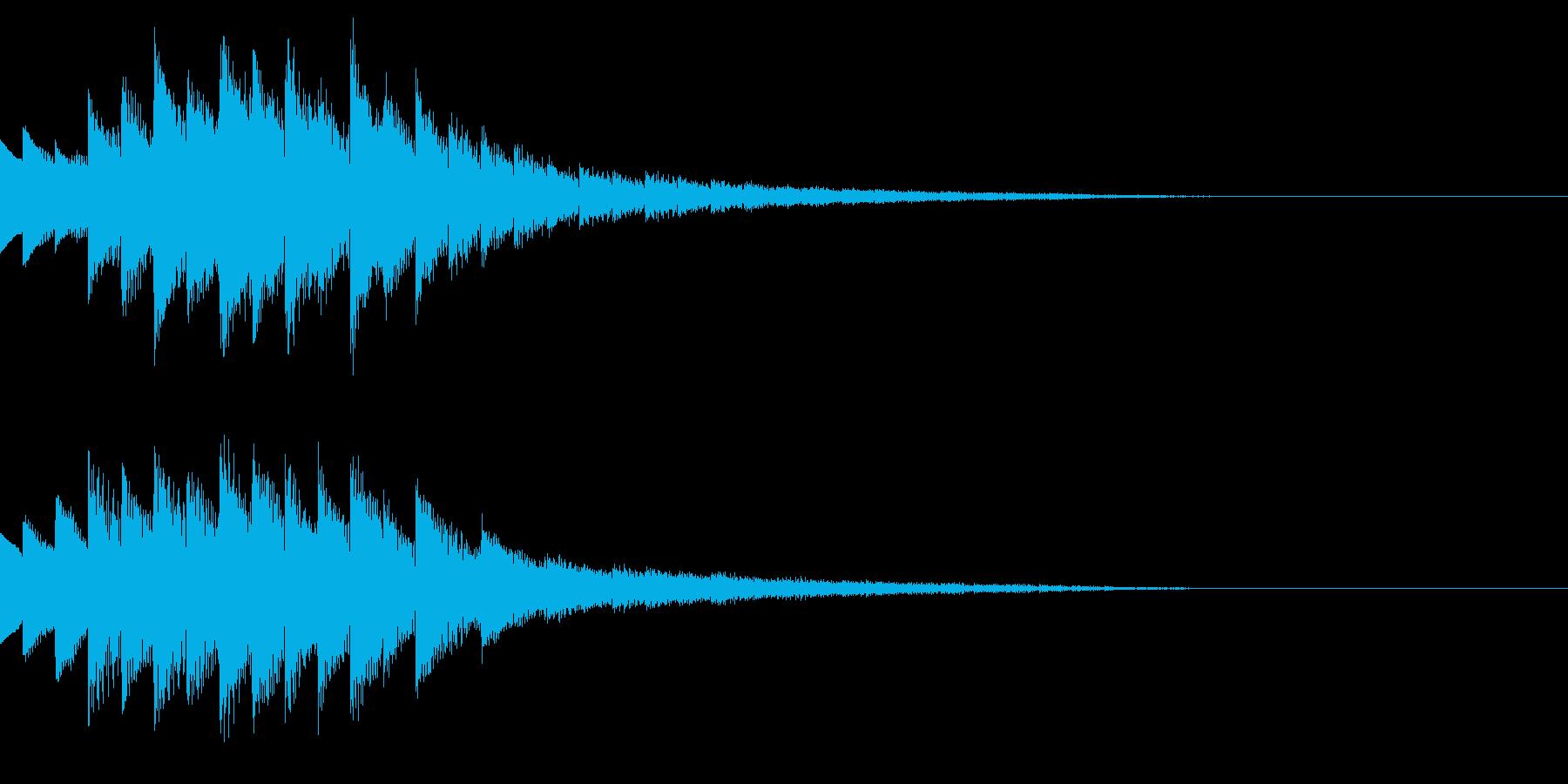 キラキラ/ニュース/映像/場面転換の再生済みの波形