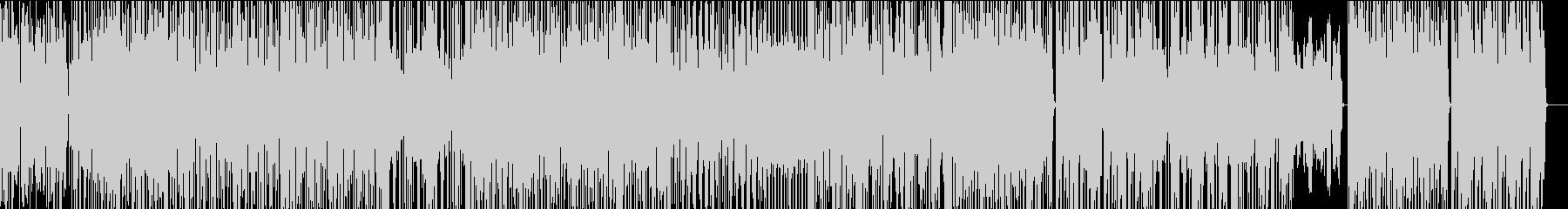 疾走感 スタイリッシュ テクノポップの未再生の波形