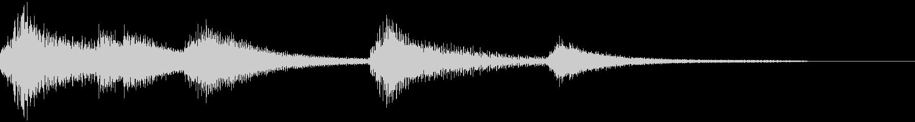 寂しげで美しいピアノのジングル15の未再生の波形