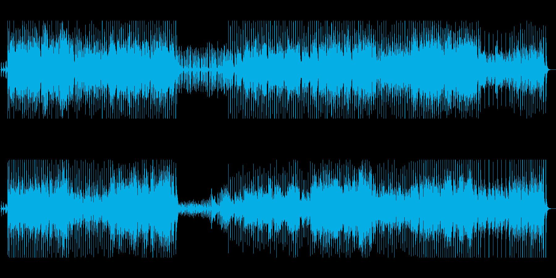 夏っぽくて陽気なBGMの再生済みの波形