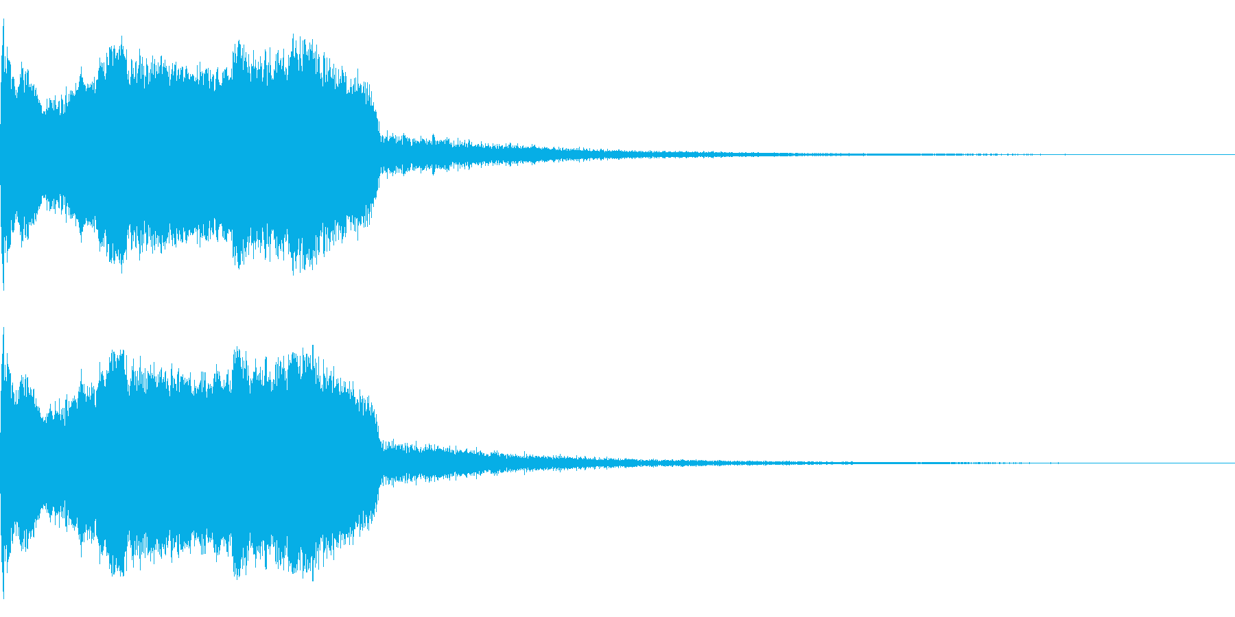 DJFX ヒットチャート発表前SE 19の再生済みの波形