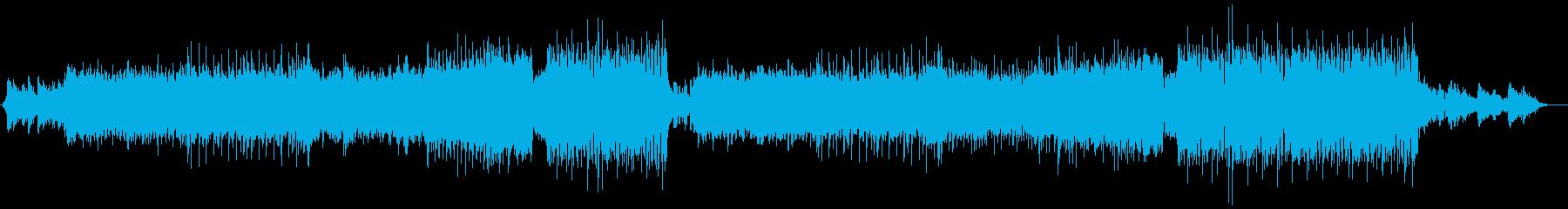 ポップス寄りのキレイめダンス曲の再生済みの波形