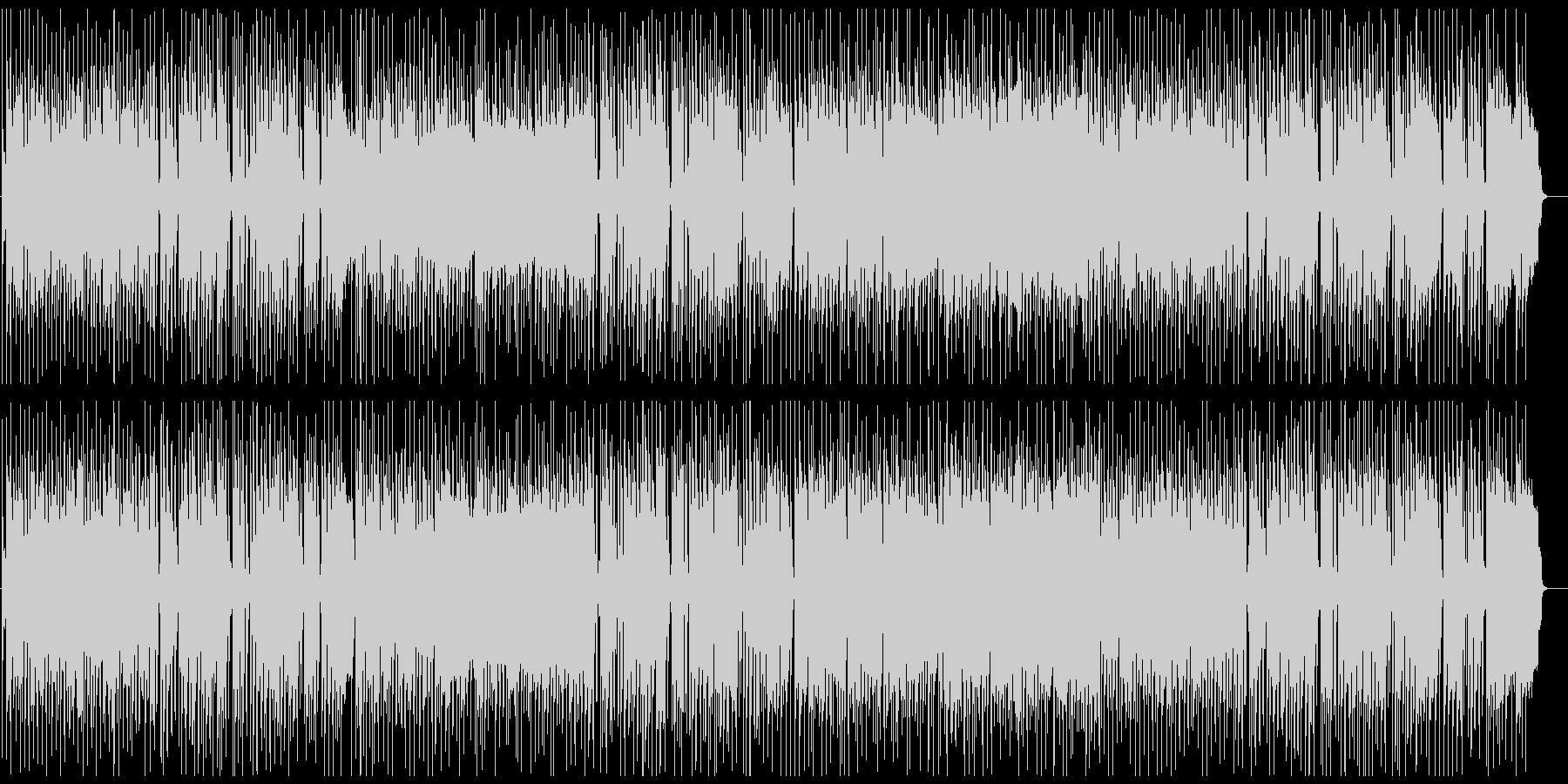 ハードなFunk Rock、ギター生演奏の未再生の波形
