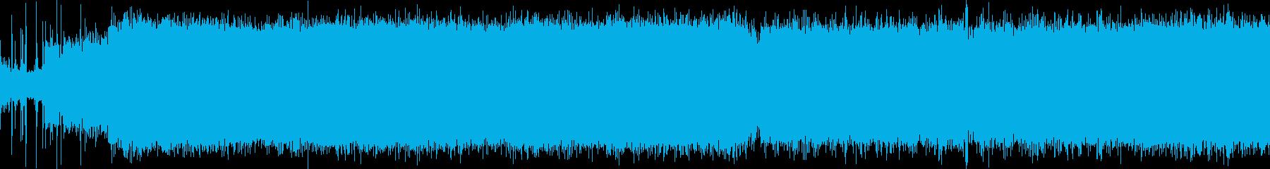 ヘリコプターのエンジン始動音の再生済みの波形