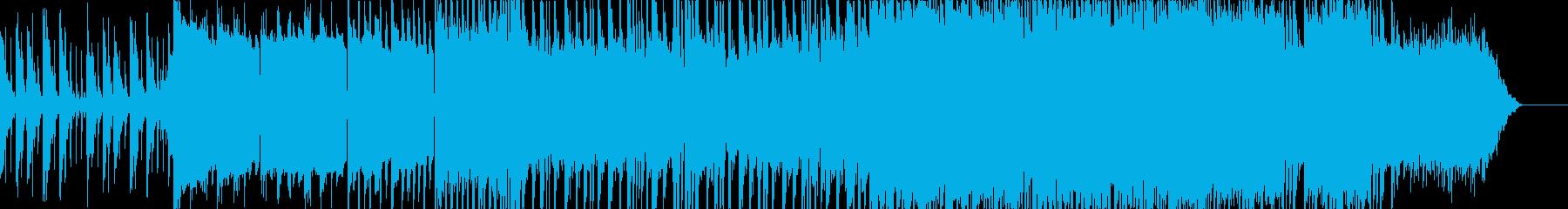 激しく美しいフューチャーベースの再生済みの波形