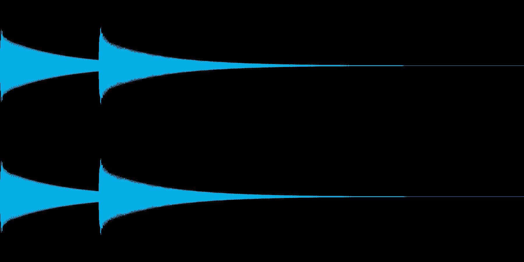 [インターホン]の再生済みの波形