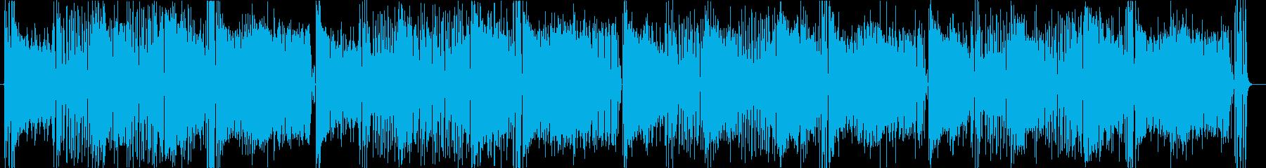 トロピカルでポップでかわいいゲーム音楽曲の再生済みの波形