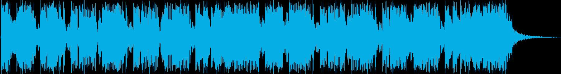 ロックなジングルの再生済みの波形