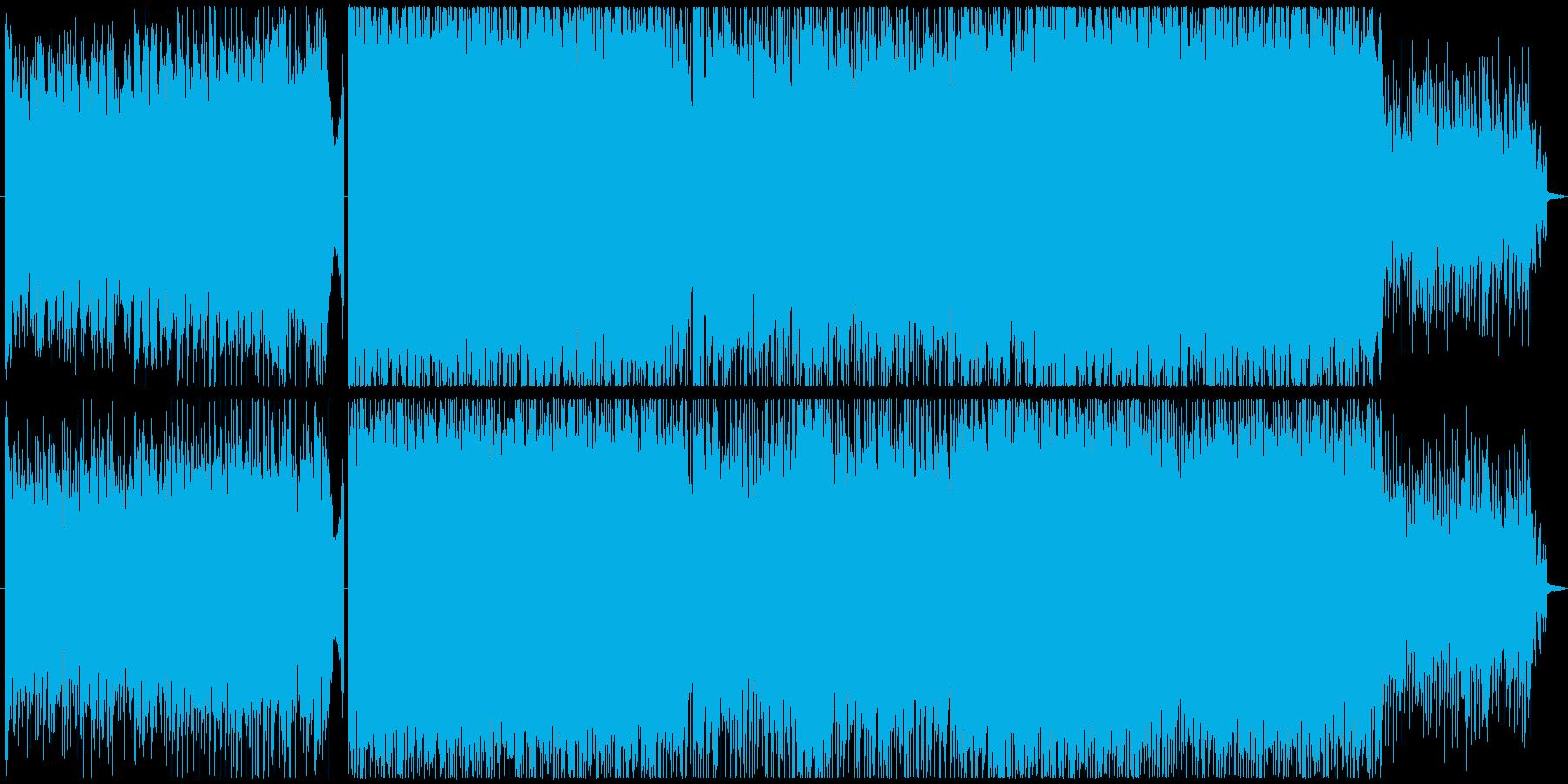 明るいロックな青春系インスト 映像BGMの再生済みの波形