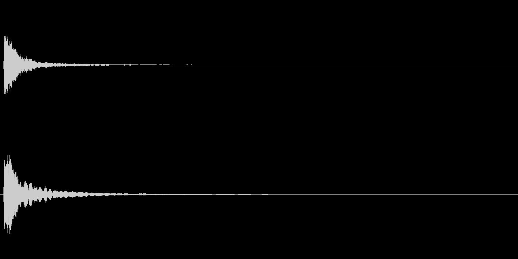 「チン」お囃子の当たり鉦の単発音+Fxの未再生の波形