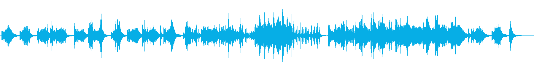 名曲「春の海」ピアノソロの再生済みの波形