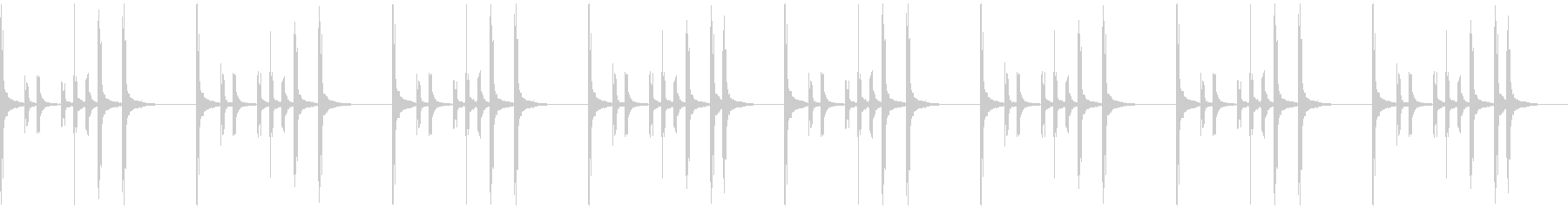 軽快なクラップ/手拍子ジングル・ループ可の未再生の波形