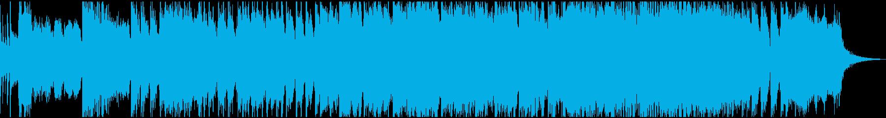 格闘ゲームをイメージした熱いロックの再生済みの波形