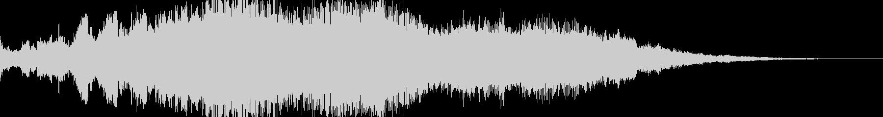 サウンドロゴ シンセサイザーの未再生の波形