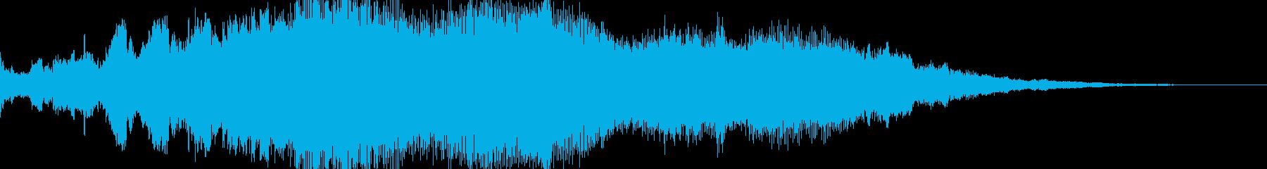 サウンドロゴ シンセサイザーの再生済みの波形