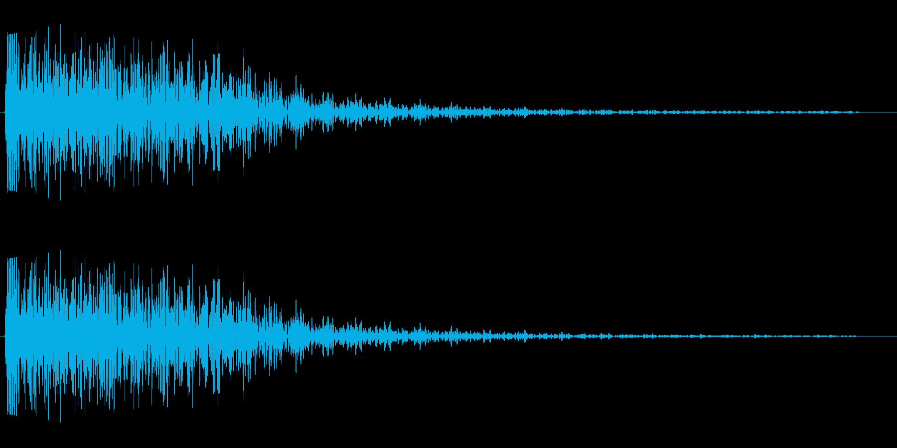 グワーン↓(ダメージを受ける)の再生済みの波形