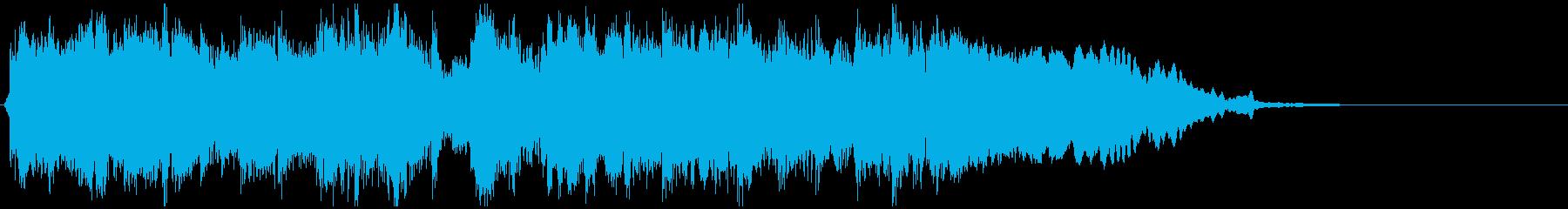 ゴリゴリな和風EDMジングル ※8秒版の再生済みの波形