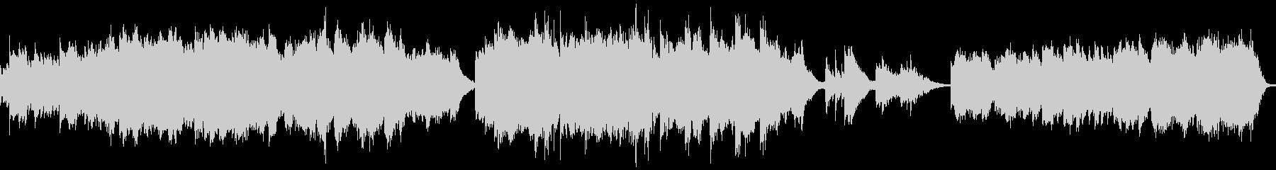 幻想的で不穏な曲(ループ)の未再生の波形