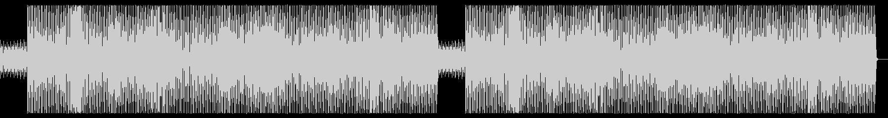 強めのキックとスクラッチが特徴的な楽曲の未再生の波形