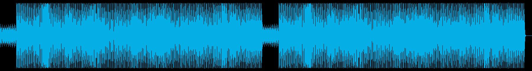強めのキックとスクラッチが特徴的な楽曲の再生済みの波形