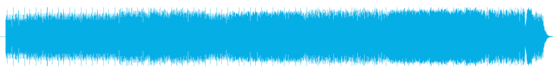 神秘的エレクトロダンスミュージックの再生済みの波形
