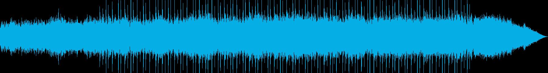 宇宙遊泳をイメージした楽曲の再生済みの波形