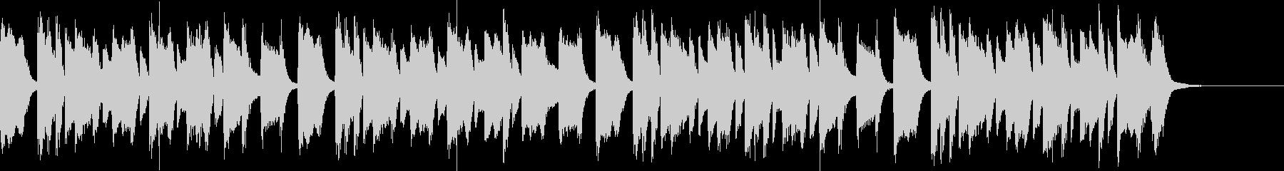 日常、軽快でシンプルなピアノフレーズの未再生の波形