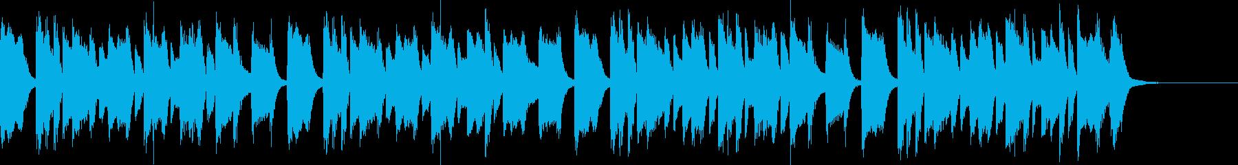 日常、軽快でシンプルなピアノフレーズの再生済みの波形