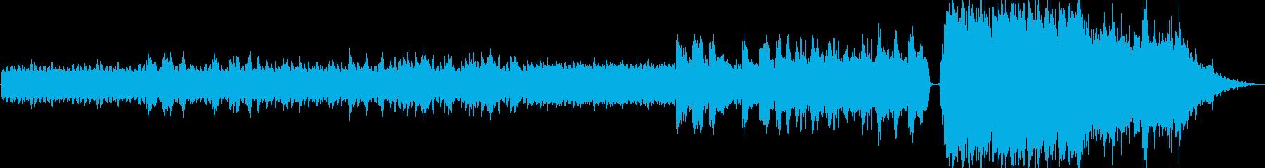 最後で盛り上がる感動BGMの再生済みの波形