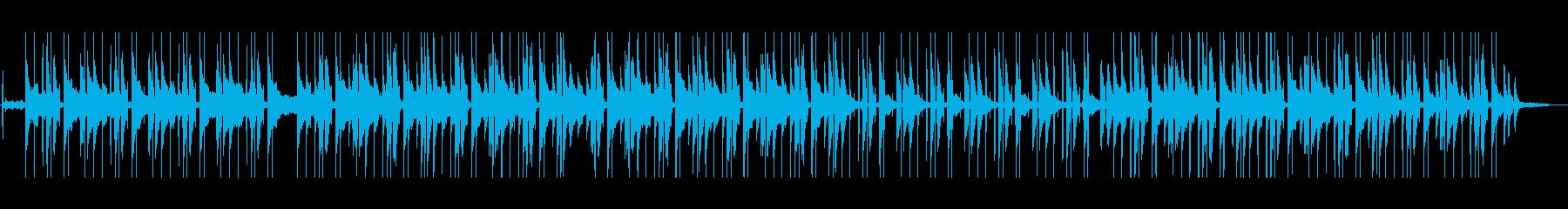 ピアノの温かいLo-Fi HipHopの再生済みの波形