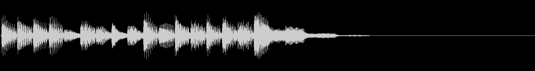 マリンバが印象的ポップなジングル 電子音の未再生の波形