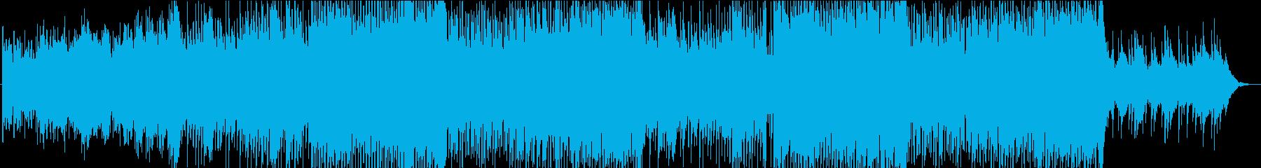 爽やかで広がりのある3拍子が特徴のBGMの再生済みの波形