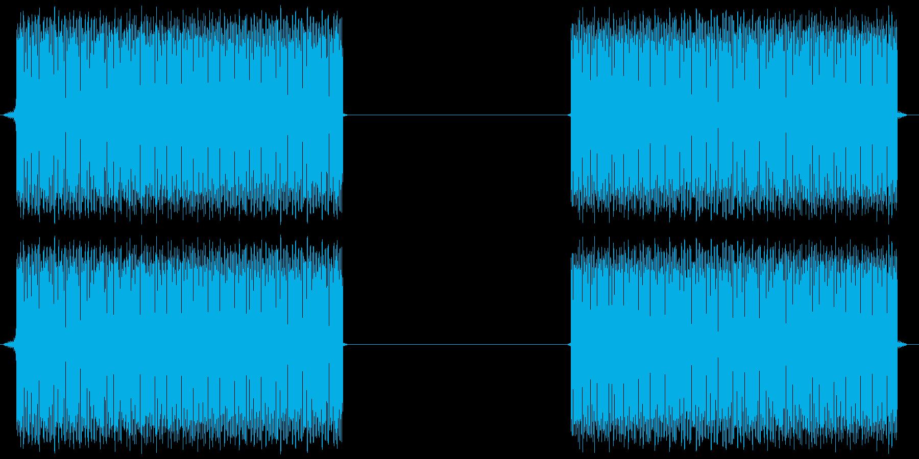 危険アラ-ム音の再生済みの波形