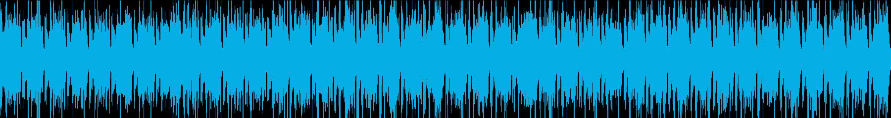 シンセメインのシンプルなループBGMの再生済みの波形