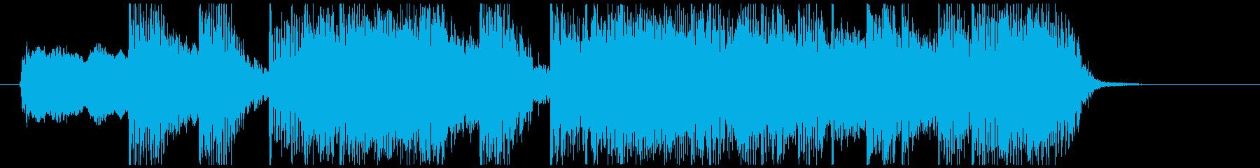 ロックギターでインパクトのあるジングル①の再生済みの波形