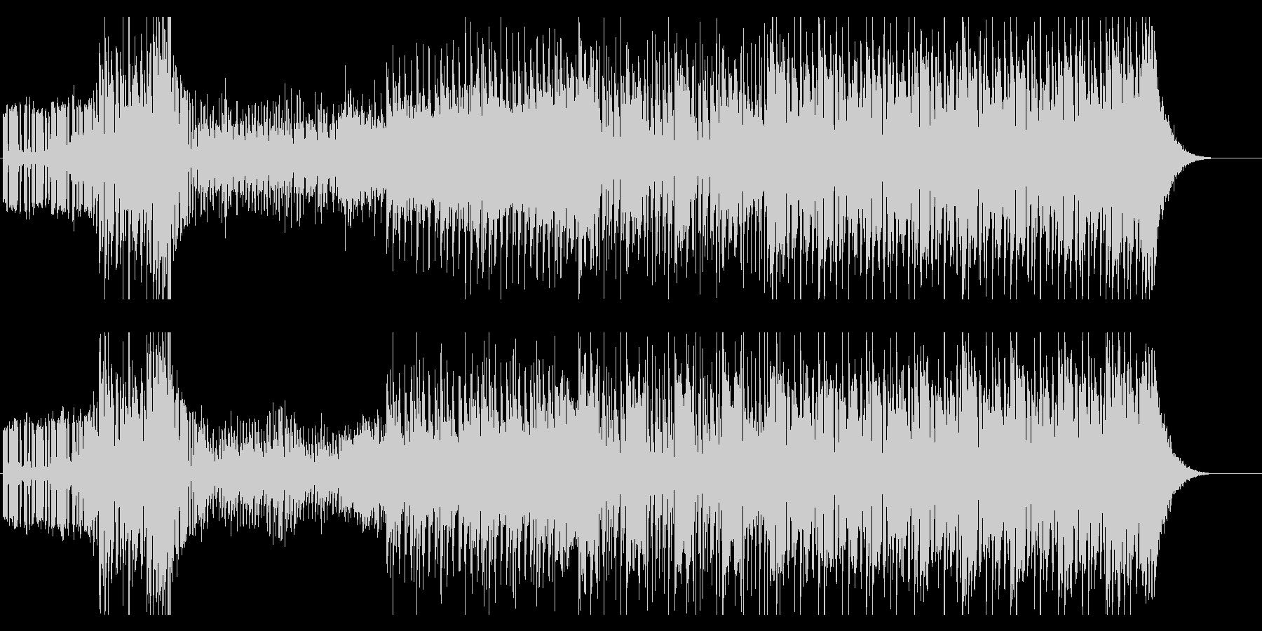 登場シーンBGMのようなEDMの未再生の波形