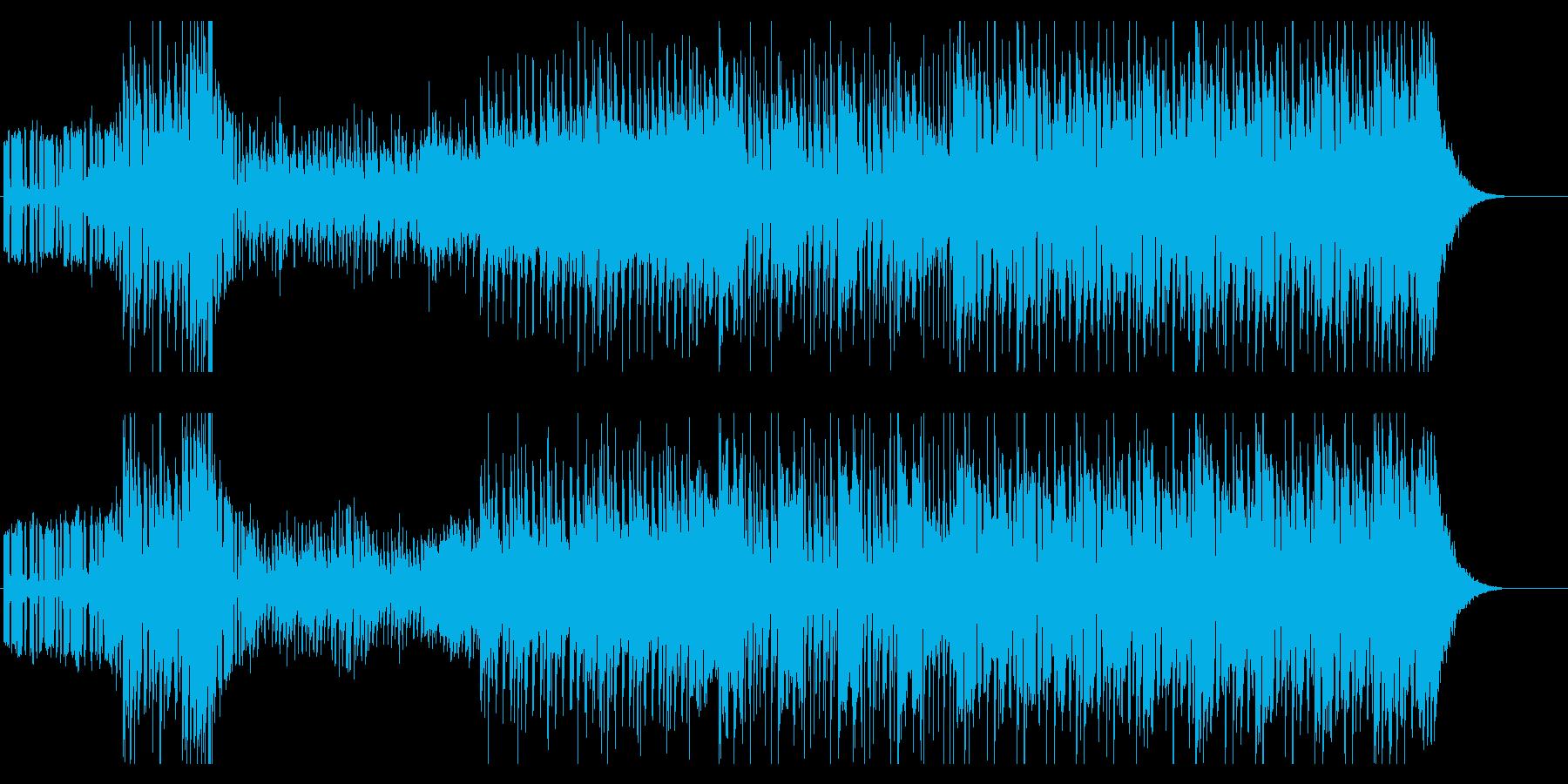 登場シーンBGMのようなEDMの再生済みの波形