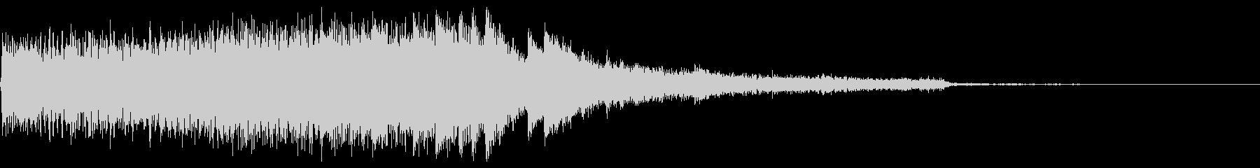 神秘的ファンタスティックなピアノジングルの未再生の波形