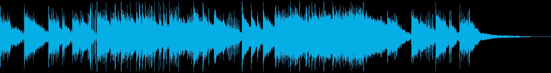 雨をイメージしたピアノ主体のBGMの再生済みの波形