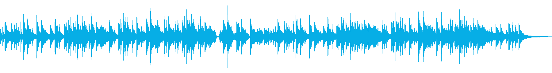 日本の童謡「赤とんぼ」感動と哀愁の琴の再生済みの波形