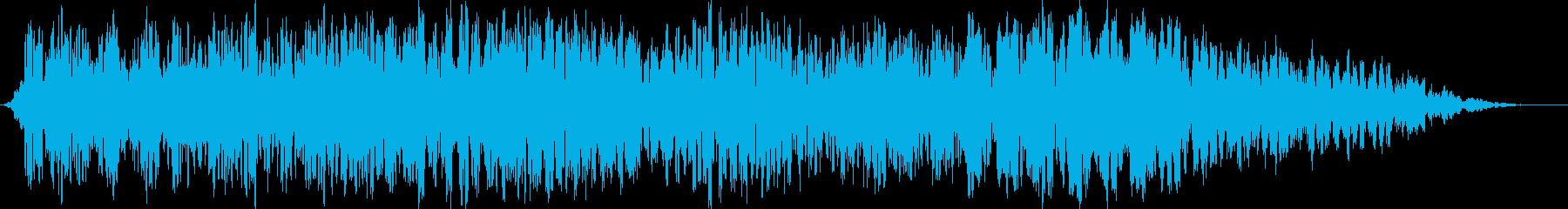 自然音 洞窟の隙間から流れる風の音の再生済みの波形