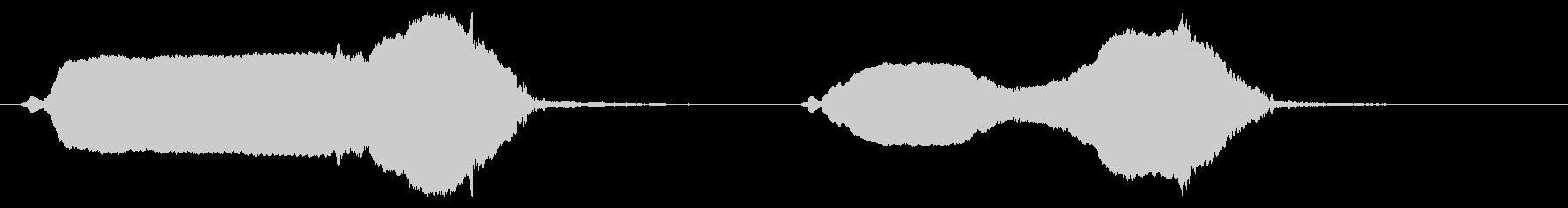 バードホイッスル:2つのハッピーコールの未再生の波形