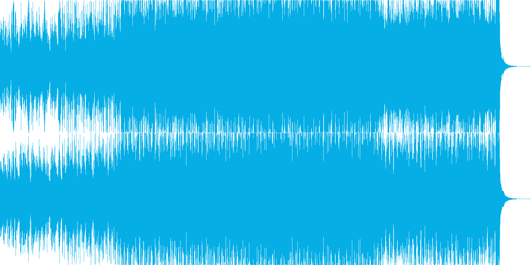疾走感を感じるアコギが特徴的な夏曲の再生済みの波形