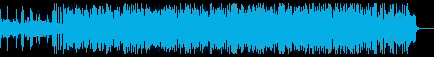 軽快で爽やかなサンバ風ミュージックの再生済みの波形
