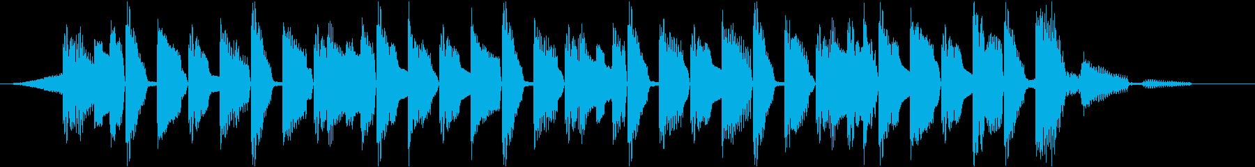 10秒 ラジオのジングルや動画のOP向けの再生済みの波形