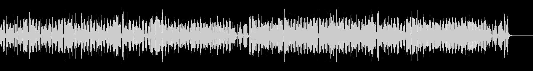 気の抜けた、調子のはずれたリコーダーの曲の未再生の波形